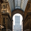 Royalty-Free Stock Photo: Glass Dome of Interior of Galleria Vittorio Emanuele II Shoping