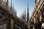 Roof of the Famous Milan Cathedral, Lombardy, Italy — Stock Photo