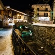 Illuminated Street of Megeve in French Alps, France — Stock Photo #22073291