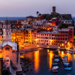Aerial View on the Village of Vernazza at the Morning, Cinque Te — Stock Photo