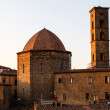 Stock Photo: Sunset in the Small Town of Volterra in Tuscany, Italy