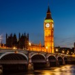 Big Ben and House of Parliament at Night, London, United Kingdom — Stock Photo #22667935