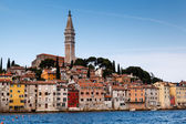 Medieval City of Rovinj and Saint Euphemia Cathedral, Istria, Cr — Stock Photo