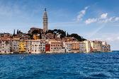 Medieval City of Rovinj and Saint Euphemia Cathedral, Istria, Cr — Stock Photo