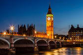 Big ben en parlement 's nachts, london, verenigd koninkrijk — Stockfoto