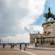 Stock Photo: Pracdo Comercio and Statue of King Jose I in Lisbon, Portugal