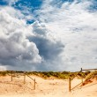 Stock Photo: White Clouds above Guincho Beach in Cascais near Lisbon, Portuga