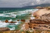 Guincho Beach on Atlantic Ocean in Stormy Weather near Lisbon, P — Stock Photo