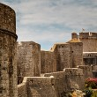 Stock Photo: City Walls and MincetTower in Dubrovnik, Dalmatia, Croatia