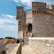 City Walls and Minceta Tower in Dubrovnik, Dalmatia, Croatia — Stock Photo