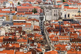 Aerial View on Lisbon and Santa Justa Lift from Above, Portugal — Stock Photo
