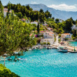 Beautiful Adriatic Bay and the Village near Split, Croatia — Stock Photo
