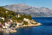Beautiful Adriatic Beach and Lagoon with Blue Water near Split, — Foto de Stock