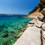 Wonderful Adriatic Sea with Deep Blue Water near Split, Croatia — Stock Photo