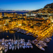 Aerial View on Fontvieille and Monaco Harbor with Luxury Yachts, — Stock Photo #24211649