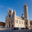 Beautiful Santa Maria Cathedral in Siena, Tuscany, Italy - Stock Photo