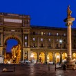 Stock Photo: Column of Abundance in PiazzdellRepubblicin Mo