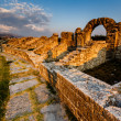 roman ampitheater ruins in the ancient town of salona near split — Stock Photo