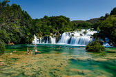 National Park Krka and Cascade of Waterfalls on River Krka, Croa — Stock Photo