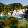 National Park Krka and Cascade of Waterfalls on River Krka, Croa - Stock Photo