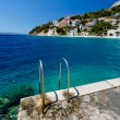 Metal Ladder on the Beach and Azure Mediterranean Sea near Split — Stock Photo
