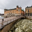 StromgatStreet and RiksgatBridge in Stockholm, Sweden — Stock Photo #24872253