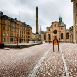 Stock Photo: Royal Palace and Cathedral of Saint Nicholas (Storkyrkan) in Sto