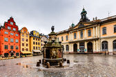 Stortorget in Old City (Gamla Stan), the Oldest Square in Stockh — Stock Photo
