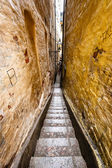 Narrow Street in Old Town (Gamla Stan) of Stockholm, Sweden — Stock Photo