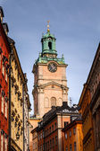Cathedral of Saint Nicholas (Storkyrkan) Bell Tower, Stockholm, — Stok fotoğraf