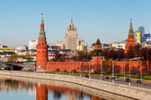 View on Moscow Kremlin and Ministry of Foreign Affairs, Russia — Stock Photo