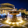 Fountain and Bolshoi Theater Illuminated in the Night, Moscow, R — Stock Photo #25167735
