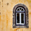 Arched Window on Yellow Wall of Pena Palace, Sintra, Portugal — Stock Photo