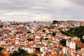 Aerial View on Lisbon Saint George Castle, Portugal — Stock Photo