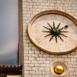 Sun Shaped Clock on Bell Tower in Dubrovnik, Croatia — Stock Photo