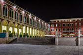 Republic Square in Split at Night, Dalmatia, Croatia — Stockfoto