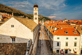 Panoramic View of Dubrovnik from the City Walls, Croatia — Stock Photo