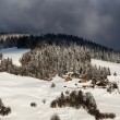 Chalets on the Mountain Slope in Village of Megeve, French Alps — ストック写真