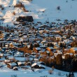 Aerial View on Ski Resort Megeve in French Alps, France — Foto Stock