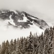 Stock Photo: Ski Slope near Megeve in French Alps, France