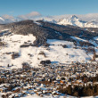 Stock Photo: Aerial View on Ski Resort Megeve in French Alps, France