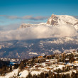 Aerial View on Ski Resort Megeve in French Alps, France — Stockfoto