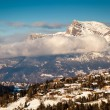 Aerial View on Ski Resort Megeve in French Alps, France — Foto de Stock