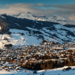 Aerial View on Ski Resort Megeve in French Alps, France — Zdjęcie stockowe