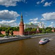 Moscow Kremlin and Moscow River Embankment, Russia — Stock Photo #27358775