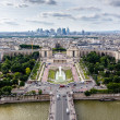 Aerial View on River Seine and Trocadero From the Eiffel Tower, — Stock Photo #28100493