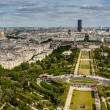 Stock Photo: Aerial View on Champ de Mars and Invalides from Eiffel Tower