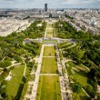Stock Photo: Aerial View on Champ de Mars from Eiffel Tower, Paris, Franc