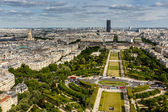 Aerial View on Champ de Mars and Invalides from the Eiffel Tower — Stock Photo
