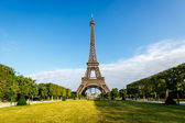 Eiffel Tower and Champ de Mars in Paris, France — Stock Photo
